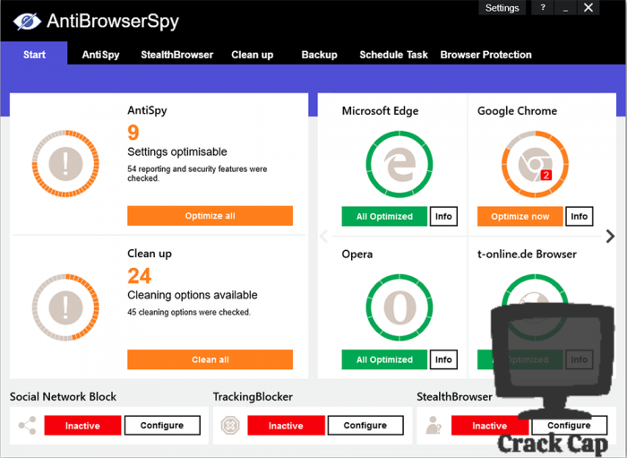 AntiBrowserSpy Pro Crack With License Key